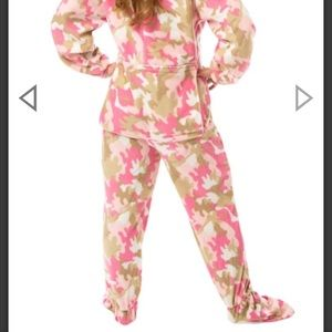 big feet pajama co Intimates & Sleepwear - Adult footed onesie pajamas with drop seat.